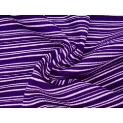 Žebrovaný elastický náplet - proužek fialová