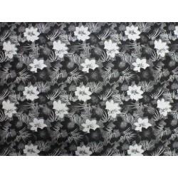 Bavlněný úplet - černobílý