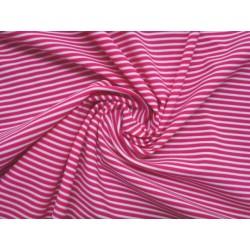 Plavkovina proužky - růžová s bílou