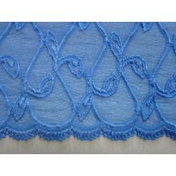 Krajka elastická modrá