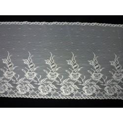 Krajka elastická - smetanová - šíře 32 cm