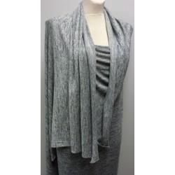 Svetrovina - melange šedý