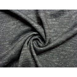 šedý elastický úplet