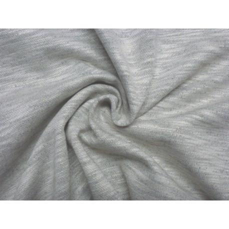 Teplákovina světle šedý melange - zlatý potisk