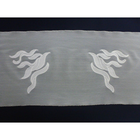 Vyšívaný elastický tyl - 16 cm
