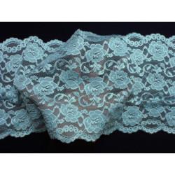 Krajka - bledě modrá elastická - šíře 20 cm