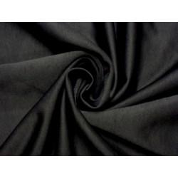 Elastický žerzej na legíny a sportovní oděvy - černý