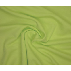 Bavlněný úplet - limetkově zelený