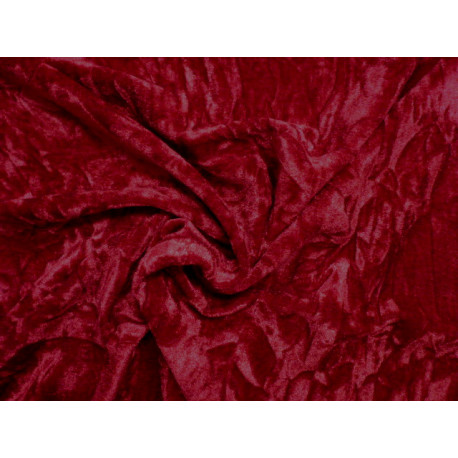 Vínově červený elastický samet