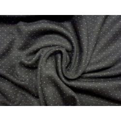 Černý úplet s malým bílým puntíkem - vyšší gramáž