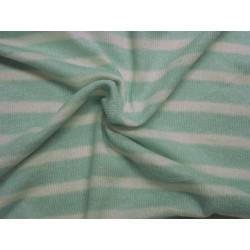 svetrovina - úplet pruhovaná mint zelená s bílou