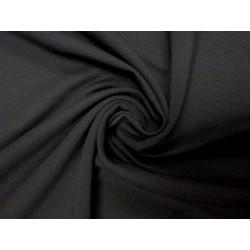 Teplákovina elastická černá - šířka 170 cm