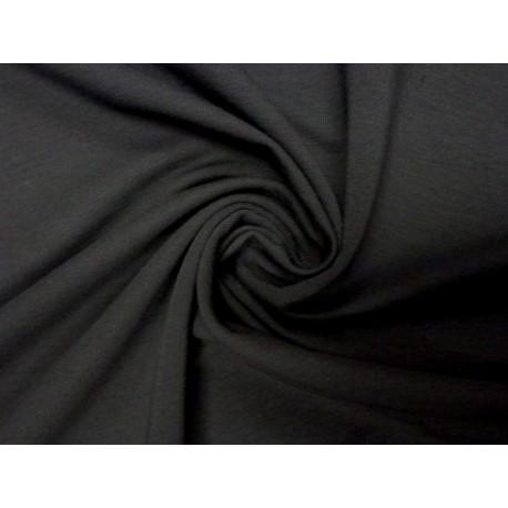 Teplákovina elastická černá - šířka 165 cm - vyšší gramáž
