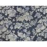Bavlna strečová modrobílá