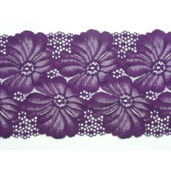 fialová krajka na elastickém tylu