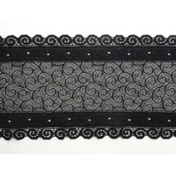 černá krajka - elastická