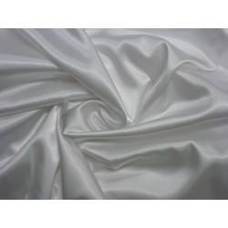 satén elastický bílý