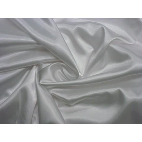6a384101af5d Látka na šaty satén elastický bílý