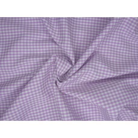 Vichy kostka - elastické fialové plátno
