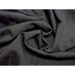 Černý úplet elastický - proužek ažurový