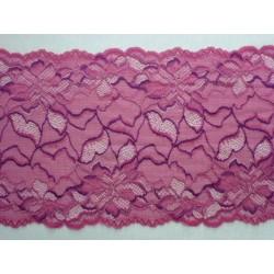 Růžovofialová krajka elastická - šíře 21 cm