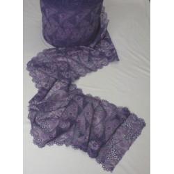 Elastická krajka fialovorůžová