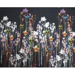 Akvarel - panel strečová bavlna - cena za 1 kus