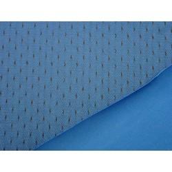 Scuba - modrá + černá krajka s malým puntíkem