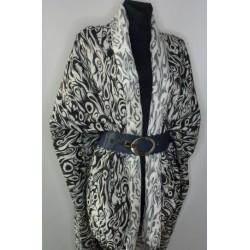 Černobílá látka na kabáty, paleta, kostýmy apod.