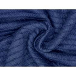 Zimní žerzej - tmavě modrá